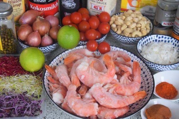 Crevetten-Curry mit grünem Pfeffer und Tomaten (1)
