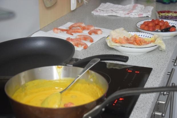 Crevetten-Curry mit grünem Pfeffer und Tomaten (2)