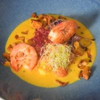 Crevetten-Curry mit grünem Pfeffer und Tomaten