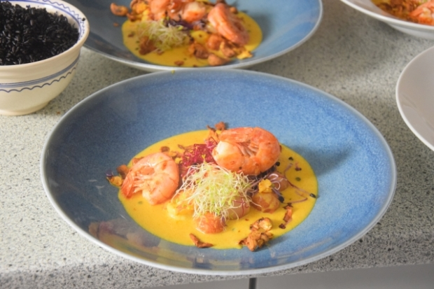 Crevetten-Curry mit grünem Pfeffer und Tomaten (4)