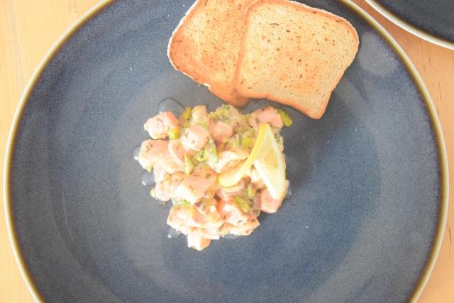 Lachssalat mit Pistazien (3)