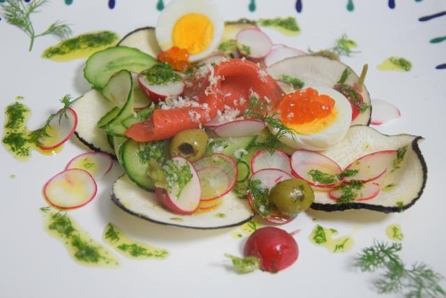Rettichsalat mit Lachs (2)