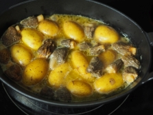 Dann die Kartoffeln