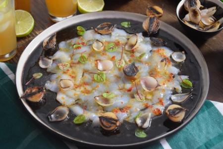 Seezunge, Ponzu, Brokkoli, Reis, Knoblauch-Mayonnaise, grüner Eistee (3)