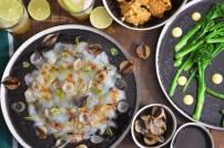 Seezunge, Ponzu, Brokkoli, Reis, Knoblauch-Mayonnaise, grüner Eistee (5)