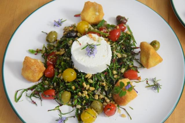 Mangoldsalat mit Ziegencamembert-Ecken (4)