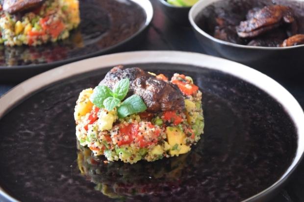Quinoa-Gemüsepfanne mit Hendl (5)