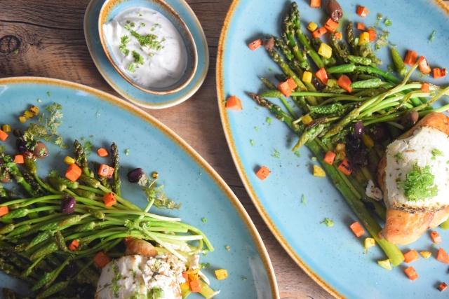 Huhn, Spargel, Karotten, Kerbel-Dip (4)