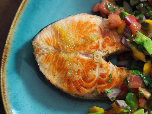 Lachssteak mit Limettenkaviar